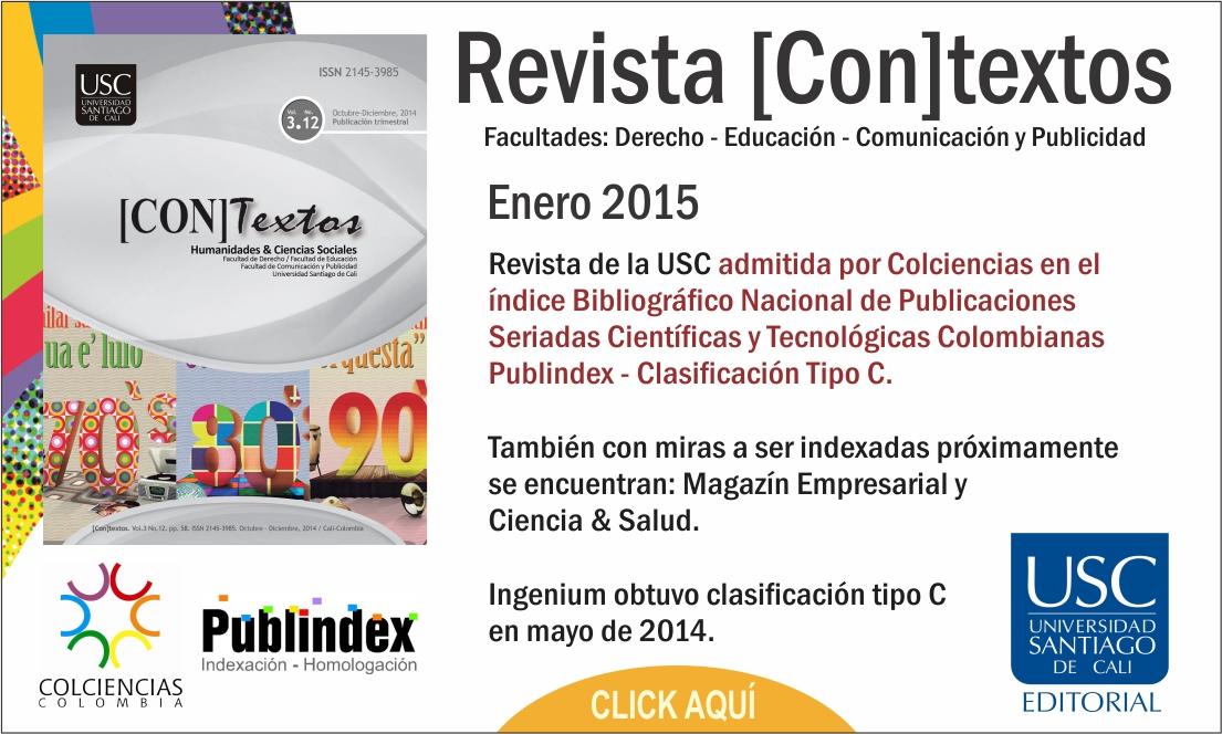 La USC recibe nuevamente indexación por parte de Colciencias para una de sus revistas científicas. Llegó el turno de [Con]textos