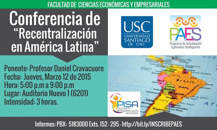 Conferencia de Recentralización en América Latina
