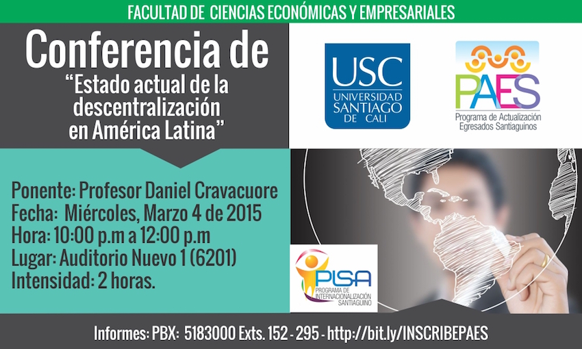 Conferencia Estado actual de la descentralización en América Latina
