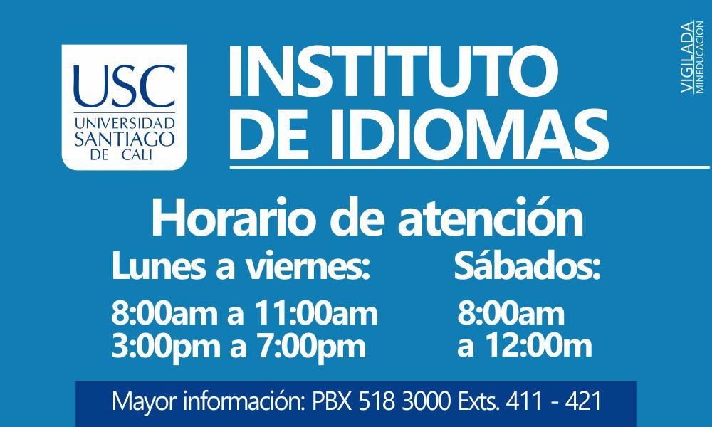 HORARIOS INSTITUTO DE IDIOMAS