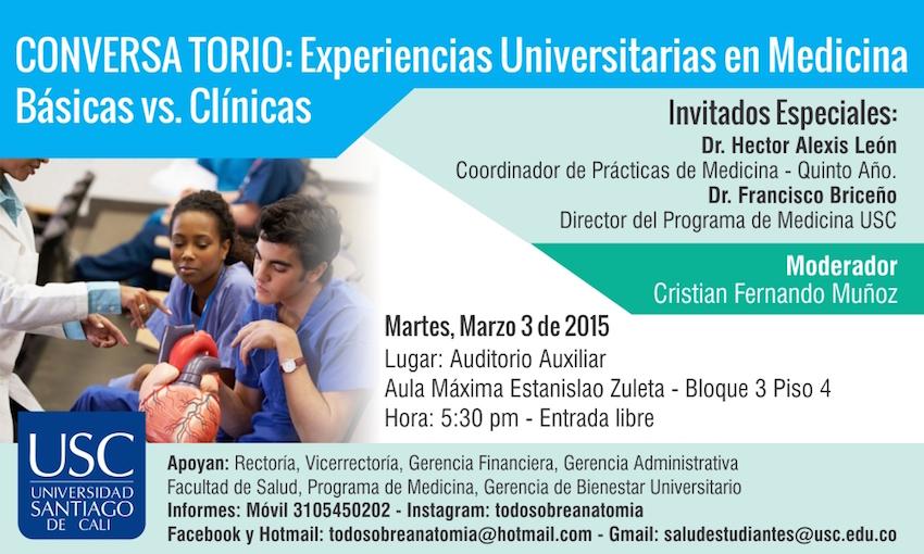Conversatorio: Experiencias universitarias en medicina. Básicas vs Clínicas