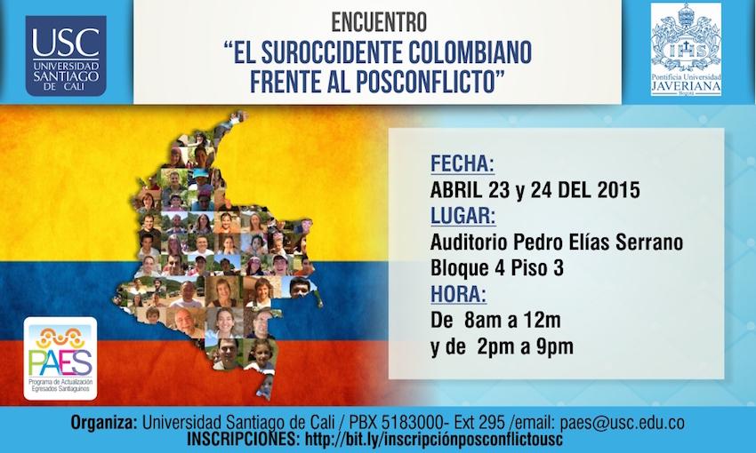 """Encuentro """"El suroccidente colombiano frente al posconflicto"""""""