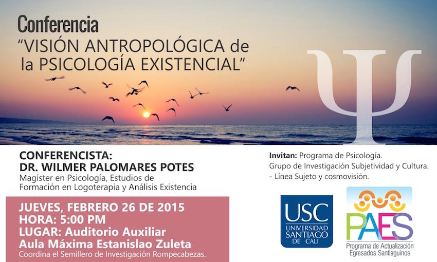 """Conferencia """"Visión antropológica de la psicología existencial"""""""