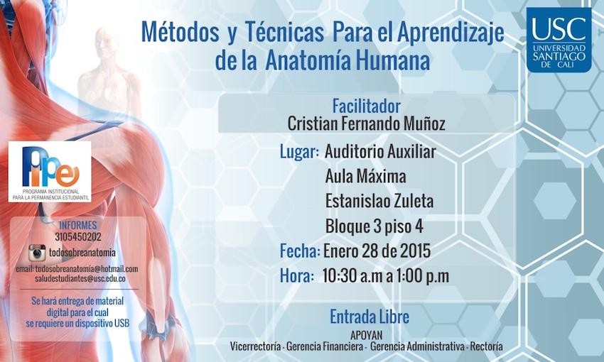 Métodos y Técnicas para el aprendizaje de la Anatomía Humana