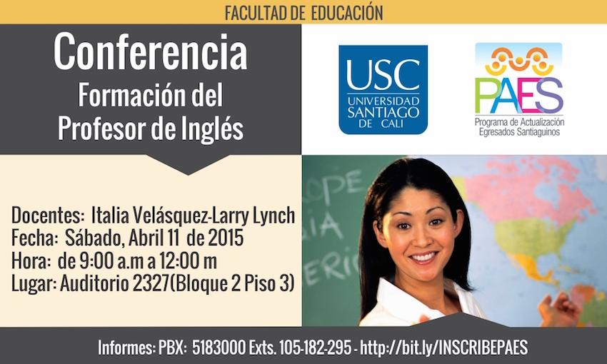 Conferencia Formación del Profesor de Ingles