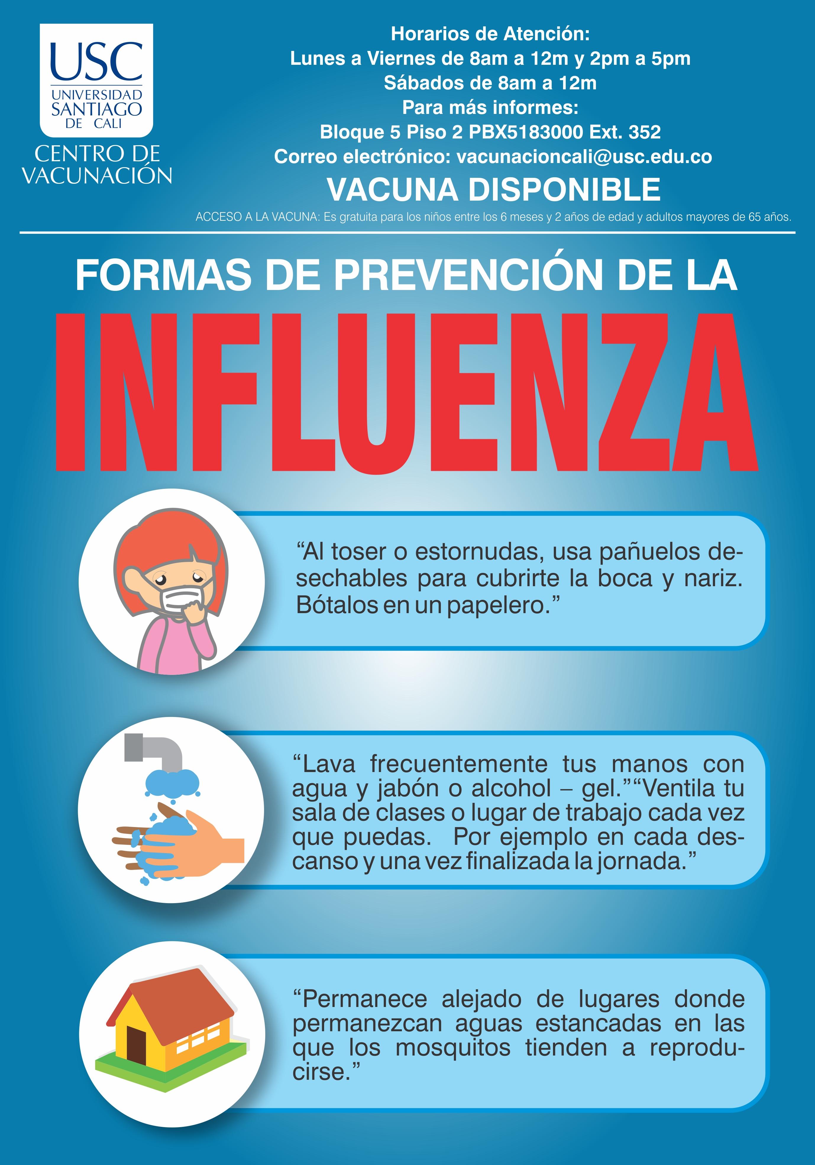 Afiche Influenza Centro De Vacunacin