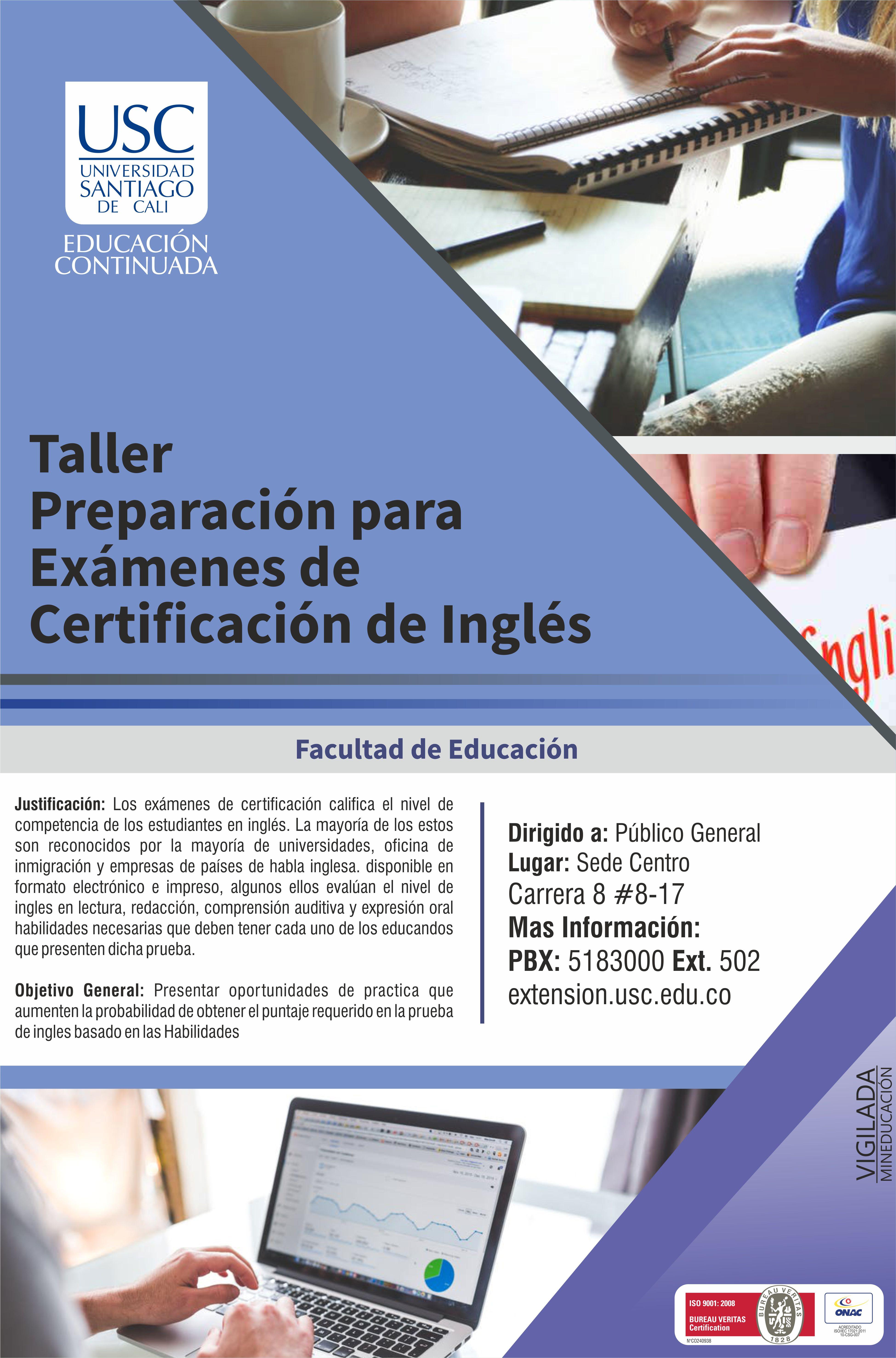 Afiche Certificacion Ingles