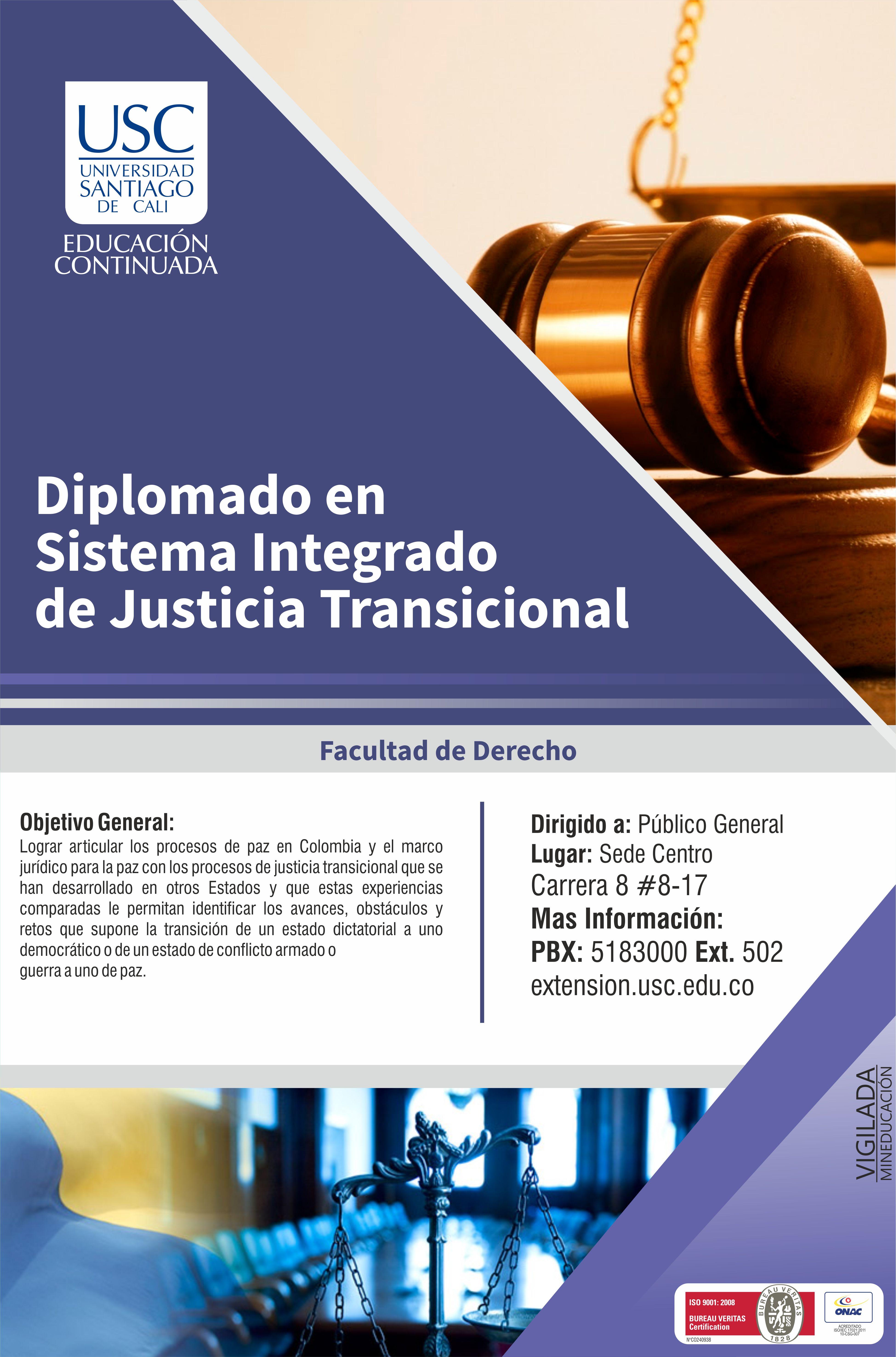 Diplomado De Justicia Transcicional