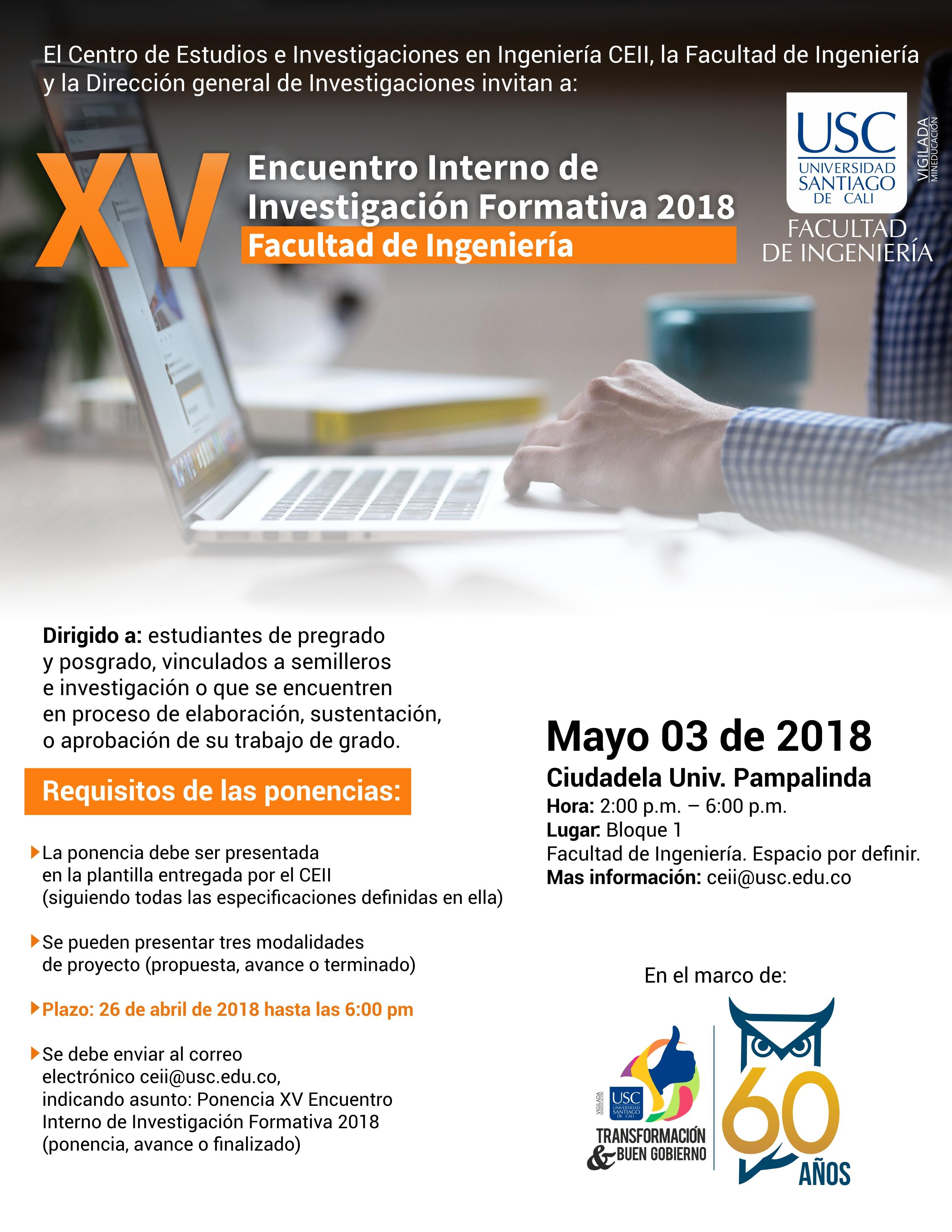 Encuentro Interno Investigacion Ingenieria 2018