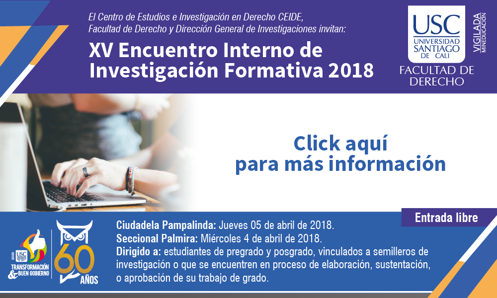 XV Encuentro Interno De Investigacin Formativa 2018 01 1