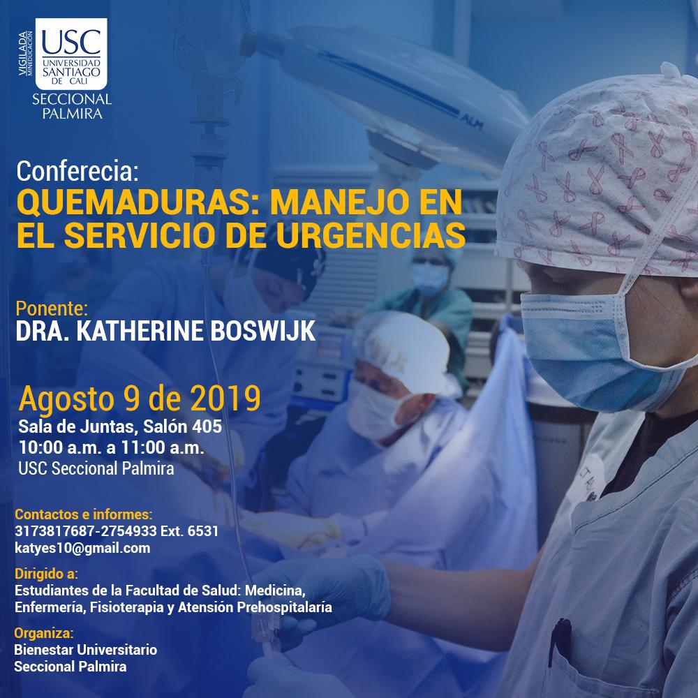 Conferecia QUEMADURAS MANEJO EN EL SERVICIO DE URGENCIAS