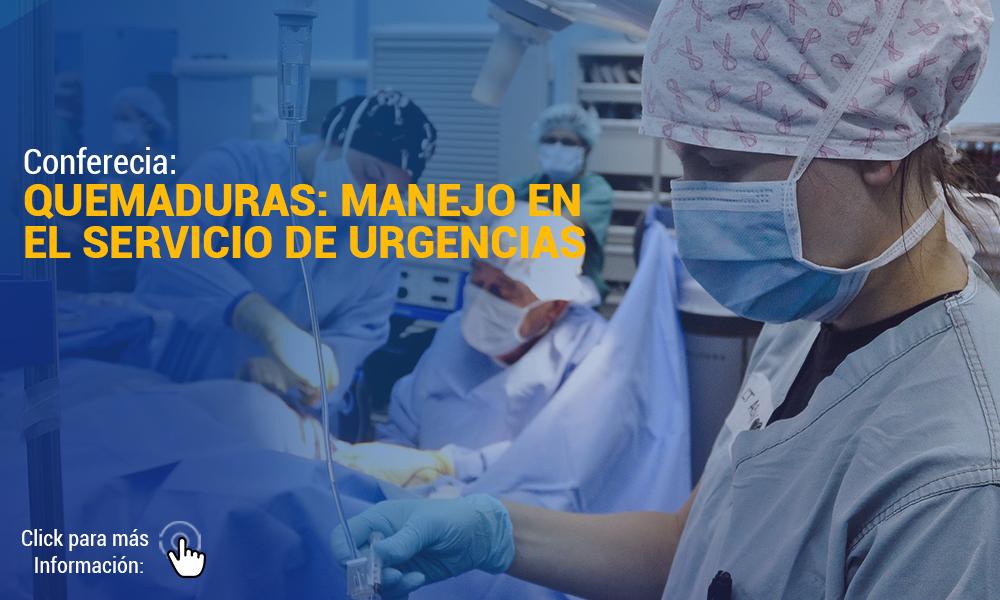 Conferecia QUEMADURAS MANEJO EN EL SERVICIO DE URGENCIAS   Para Web