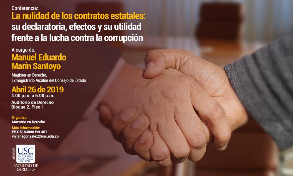 Conferencia La Nulidad De Los Contratos Estatales Su Declaratoria   Para Web