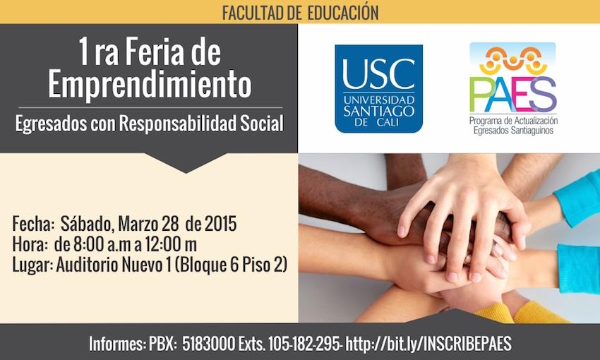 Primera Feria de Emprendimiento  - Facultad de Educación