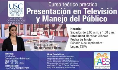 PRESENTACIÓN EN TELEVISIÓN Y MANEJO DEL PÚBLICO