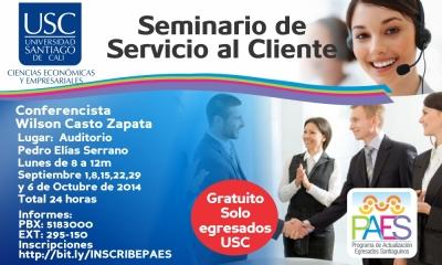 SEMINARIO DE SERVICIO AL CLIENTE