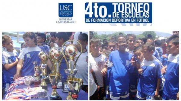 Ceremonia de premiación cuarto Torneo de Escuelas de Formación Deportiva en Fútbol