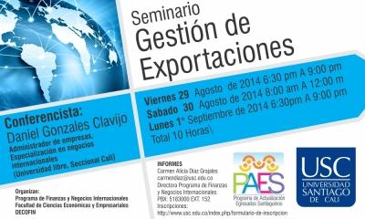 SEMINARIO GESTIÓN DE EXPORTACIONES
