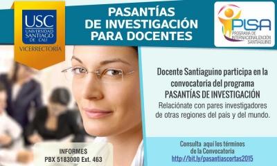 PASANTÍAS CORTAS DE INVESTIGACIÓN 2015