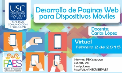 DESARROLLO DE PÁGINAS WEB PARA DISPOSITIVOS MÓVILES