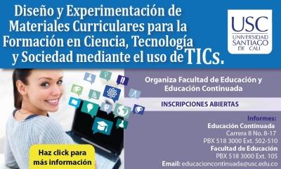DISEÑO Y EXPERIMENTACIÓN DE MATERIALES CURRICULARES MEDIANTE EL USO DE TICS