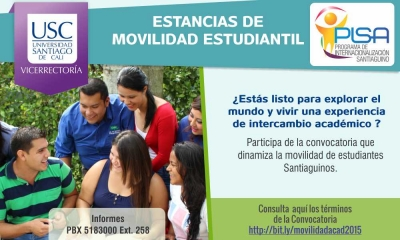 ESTANCIAS DE MOVILIDAD ACADÉMICA ESTUDIANTIL USC 2015