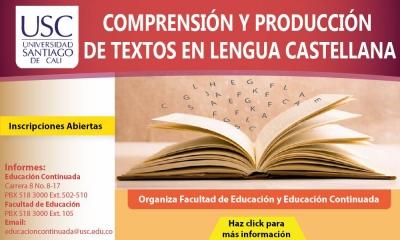 COMPRENSIÓN Y PRODUCCIÓN DE TEXTOS EN LENGUA CASTELLANA
