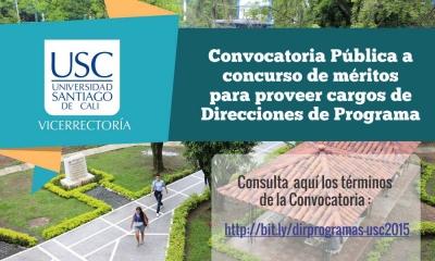 CONVOCATORIA PÚBLICA PARA ELECCIÓN DIRECTORES DE PROGRAMA