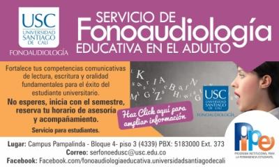 SERVICIO DE FONOAUDIOLOGÍA EDUCATIVA EN EL ADULTO